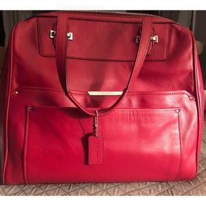 Coach Taylor Leather Berry Bowler Satchel Handbag